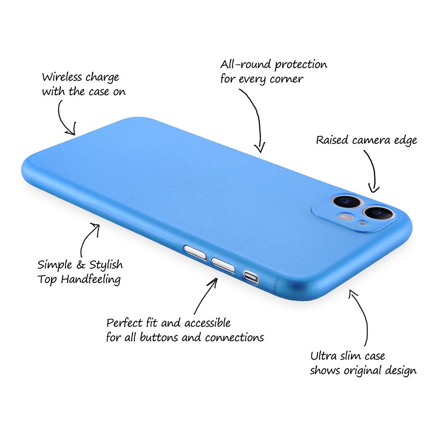 Ultra-Slim-Case-iPhone-11-6-1-034-Matt-Clear-Schutz-Huelle-Skin-Cover-Tasche-Folie Indexbild 26