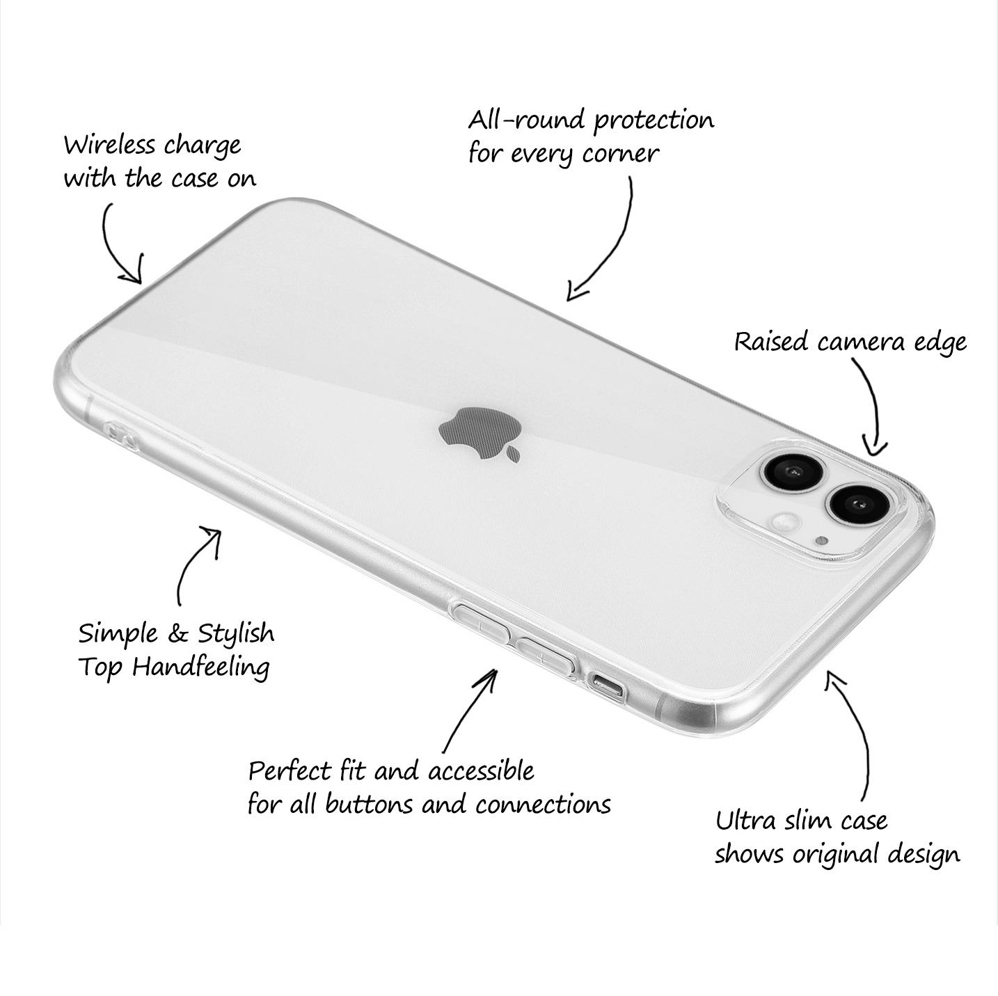 Ultra-Slim-Case-iPhone-11-6-1-034-Matt-Clear-Schutz-Huelle-Skin-Cover-Tasche-Folie Indexbild 50