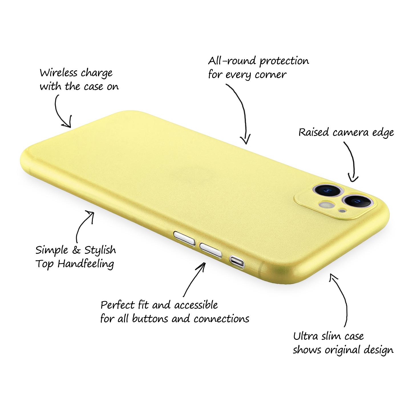 Ultra-Slim-Case-iPhone-11-6-1-034-Matt-Clear-Schutz-Huelle-Skin-Cover-Tasche-Folie Indexbild 34
