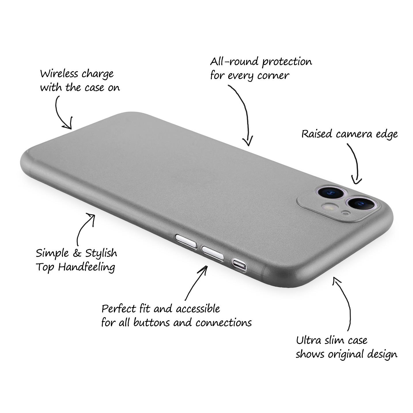 Ultra-Slim-Case-iPhone-11-6-1-034-Matt-Clear-Schutz-Huelle-Skin-Cover-Tasche-Folie Indexbild 38