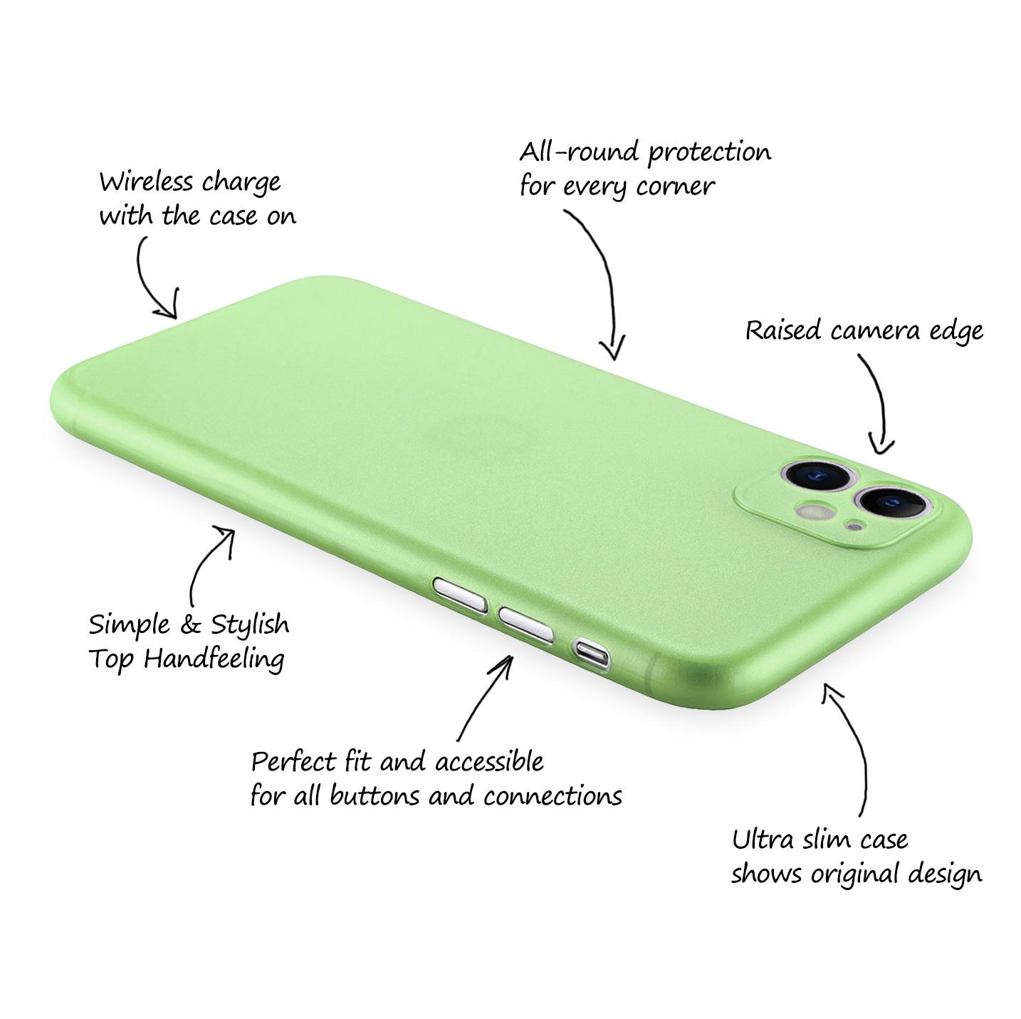 Ultra-Slim-Case-iPhone-11-6-1-034-Matt-Clear-Schutz-Huelle-Skin-Cover-Tasche-Folie Indexbild 30
