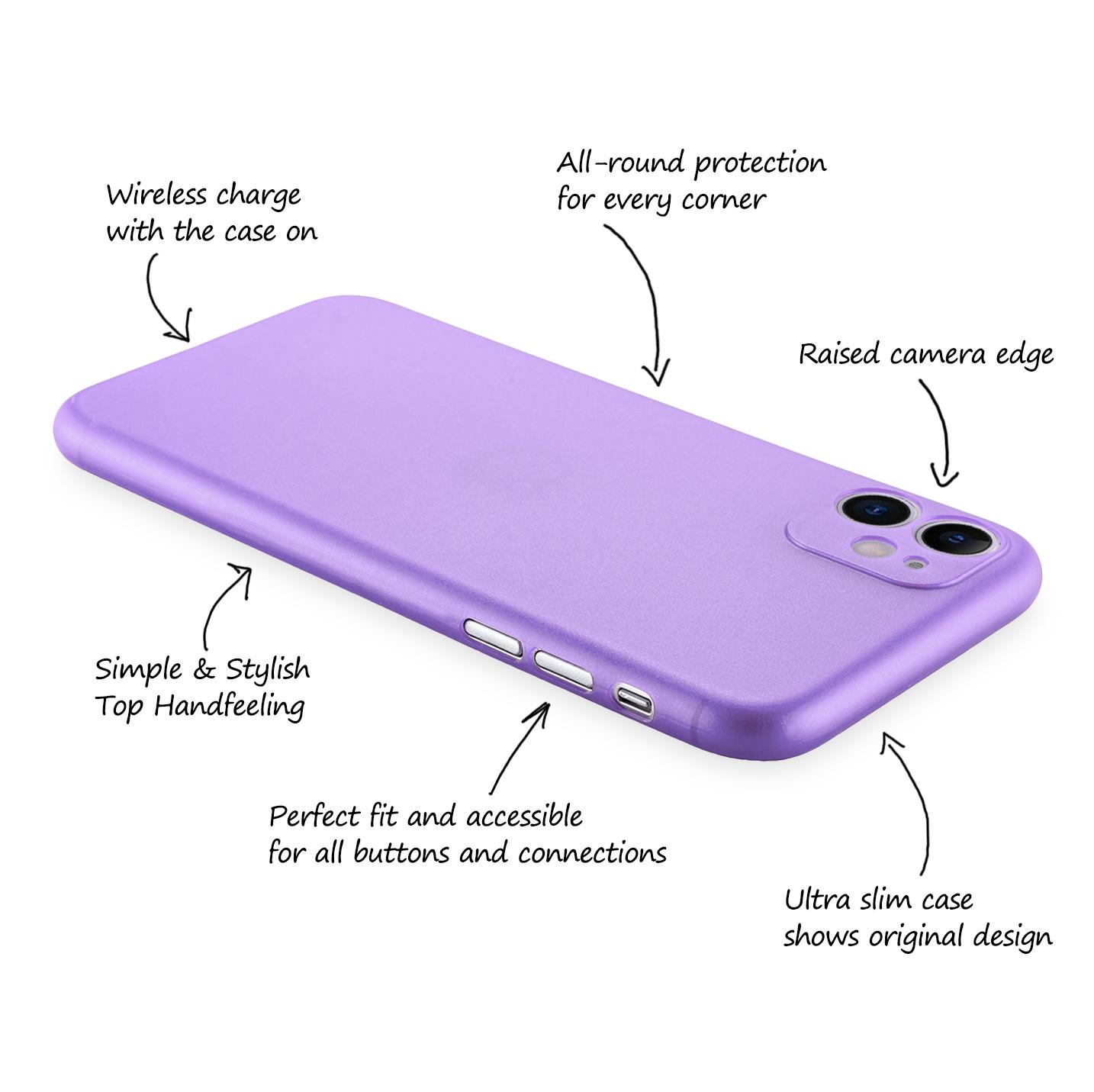 Ultra-Slim-Case-iPhone-11-6-1-034-Matt-Clear-Schutz-Huelle-Skin-Cover-Tasche-Folie Indexbild 22