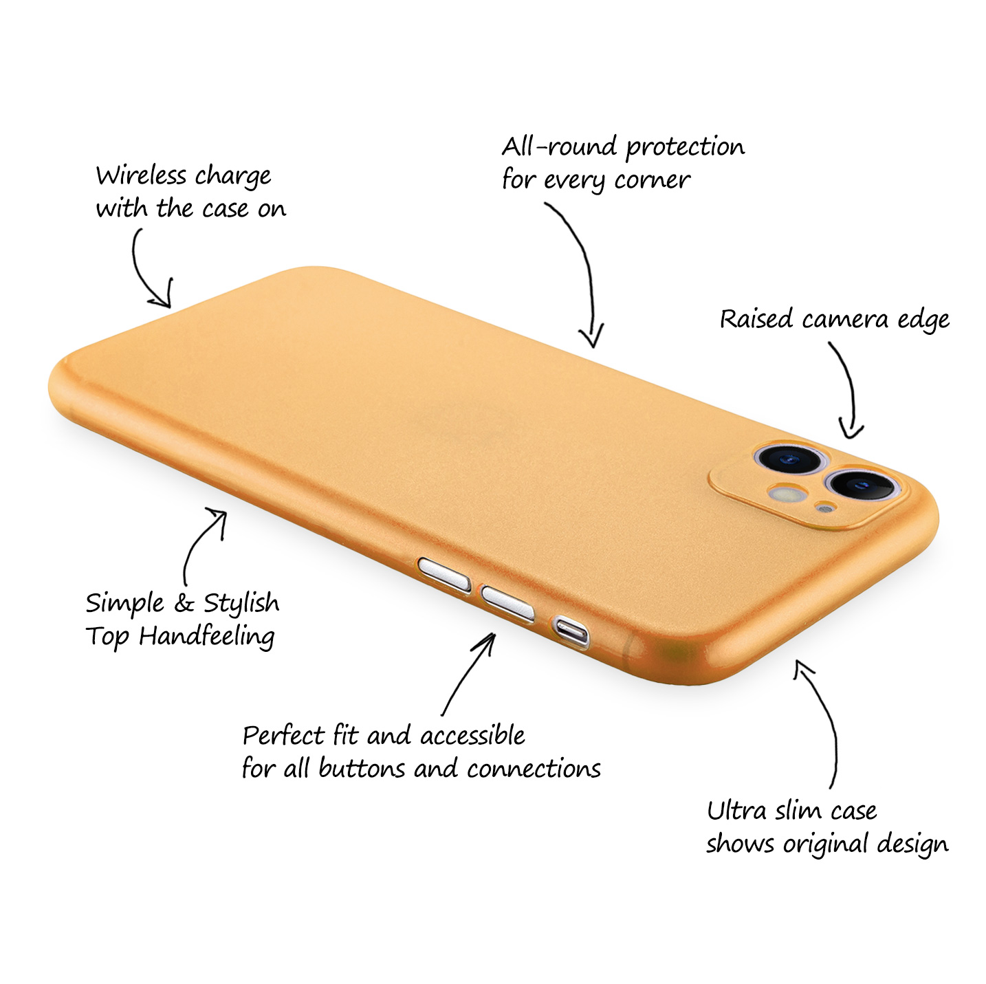 Ultra-Slim-Case-iPhone-11-6-1-034-Matt-Clear-Schutz-Huelle-Skin-Cover-Tasche-Folie Indexbild 42