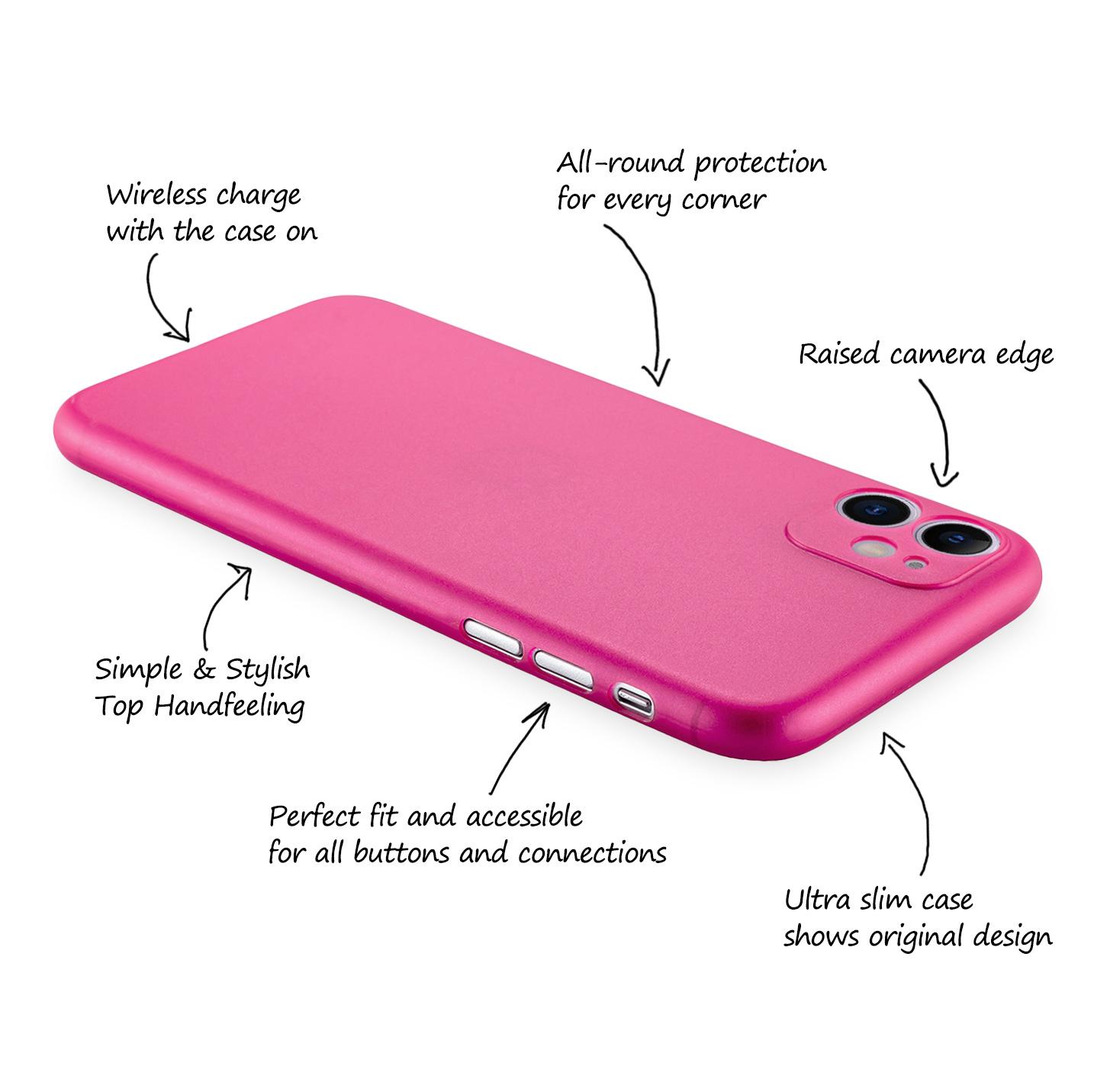 Ultra-Slim-Case-iPhone-11-6-1-034-Matt-Clear-Schutz-Huelle-Skin-Cover-Tasche-Folie Indexbild 18