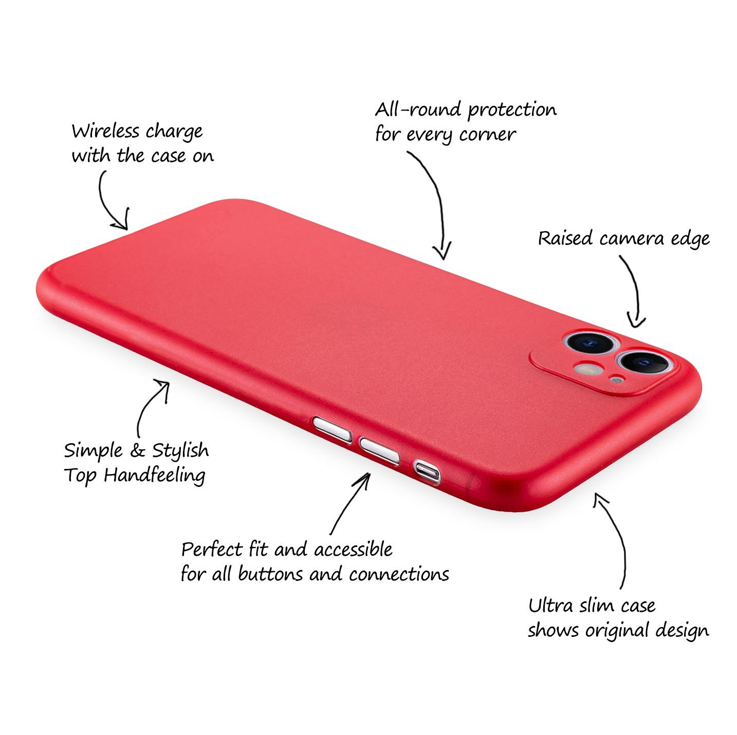 Ultra-Slim-Case-iPhone-11-6-1-034-Matt-Clear-Schutz-Huelle-Skin-Cover-Tasche-Folie Indexbild 46