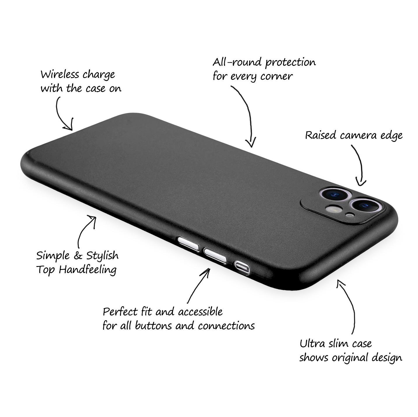Ultra-Slim-Case-iPhone-11-6-1-034-Matt-Clear-Schutz-Huelle-Skin-Cover-Tasche-Folie Indexbild 6