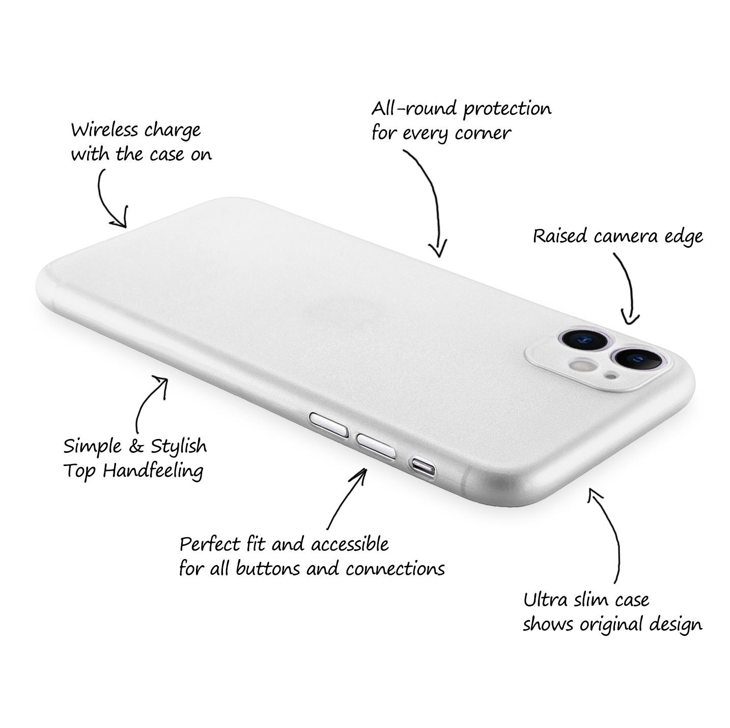 Ultra-Slim-Case-iPhone-11-6-1-034-Matt-Clear-Schutz-Huelle-Skin-Cover-Tasche-Folie Indexbild 14