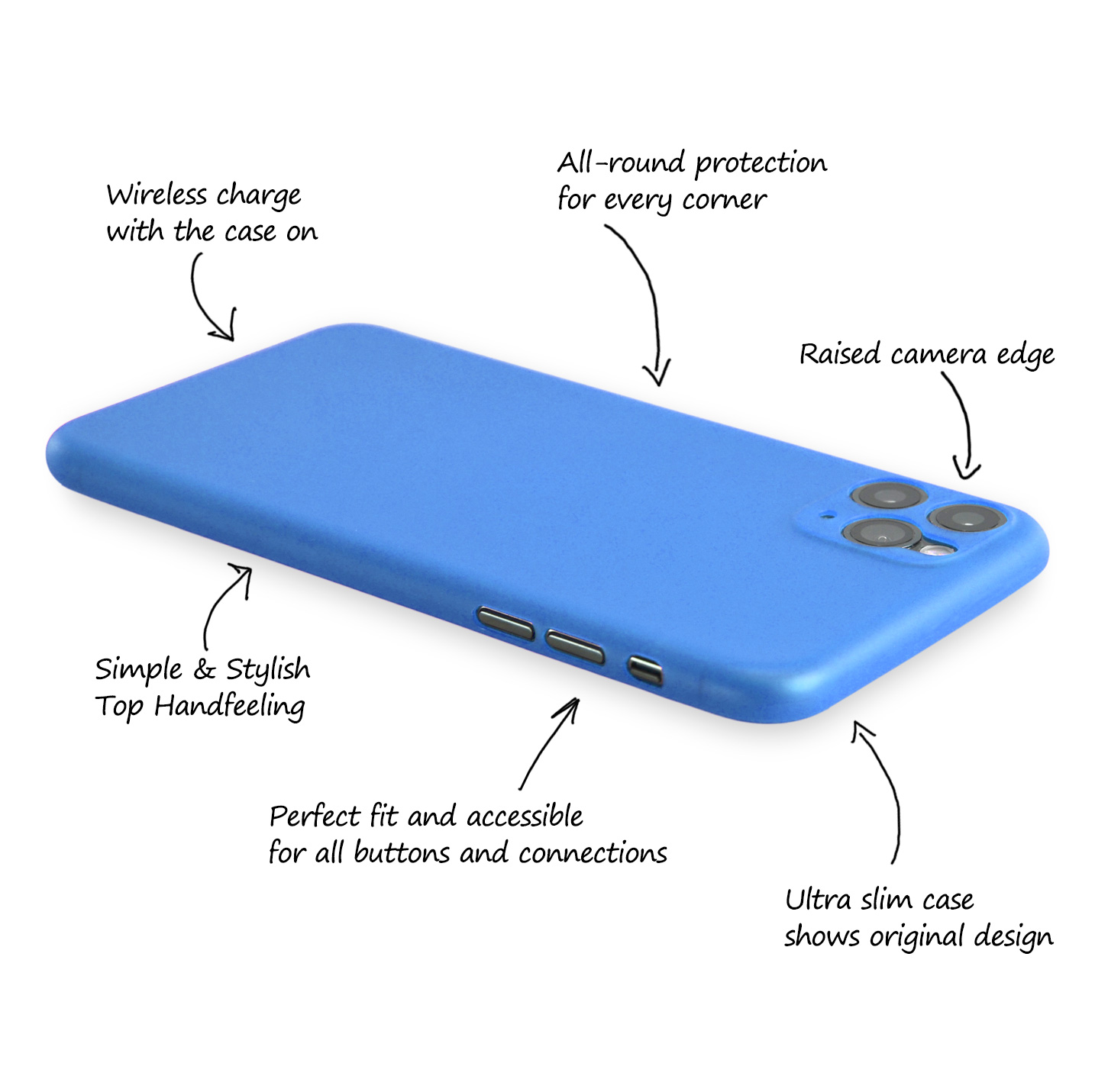 Ultra-Slim-Case-iPhone-11-Pro-5-8-034-Matt-Clear-Schutz-Huelle-Skin-Cover-Etui-Folie Indexbild 26