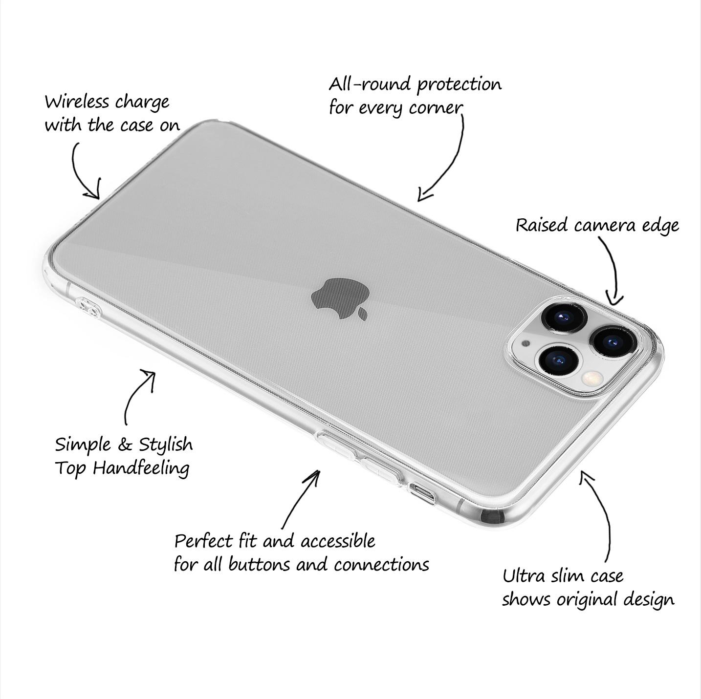 Ultra-Slim-Case-iPhone-11-Pro-5-8-034-Matt-Clear-Schutz-Huelle-Skin-Cover-Etui-Folie Indexbild 50