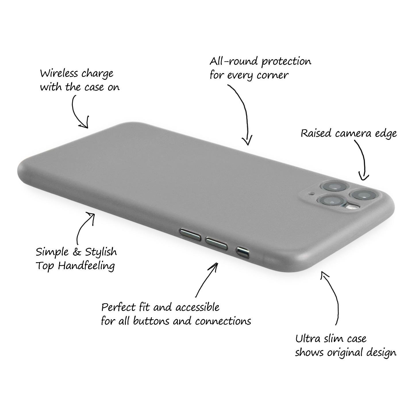 Ultra-Slim-Case-iPhone-11-Pro-5-8-034-Matt-Clear-Schutz-Huelle-Skin-Cover-Etui-Folie Indexbild 38