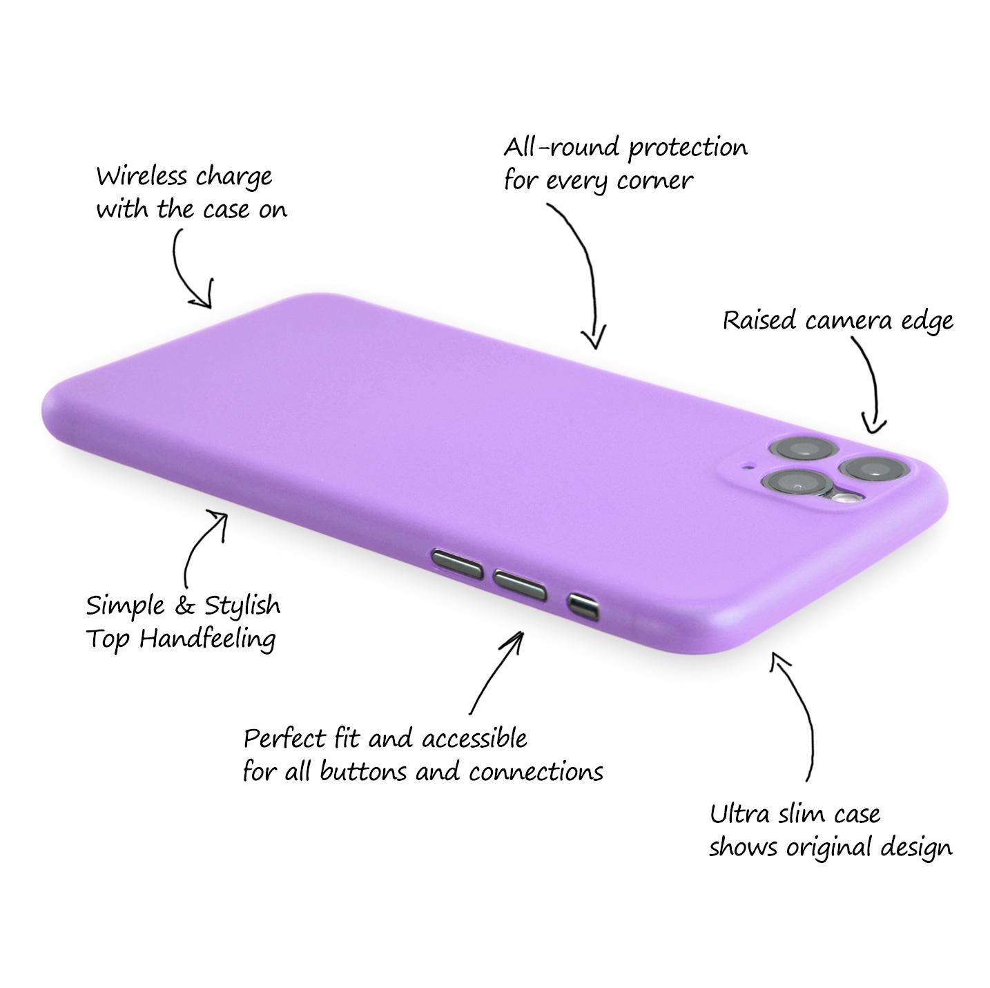 Ultra-Slim-Case-iPhone-11-Pro-5-8-034-Matt-Clear-Schutz-Huelle-Skin-Cover-Etui-Folie Indexbild 22