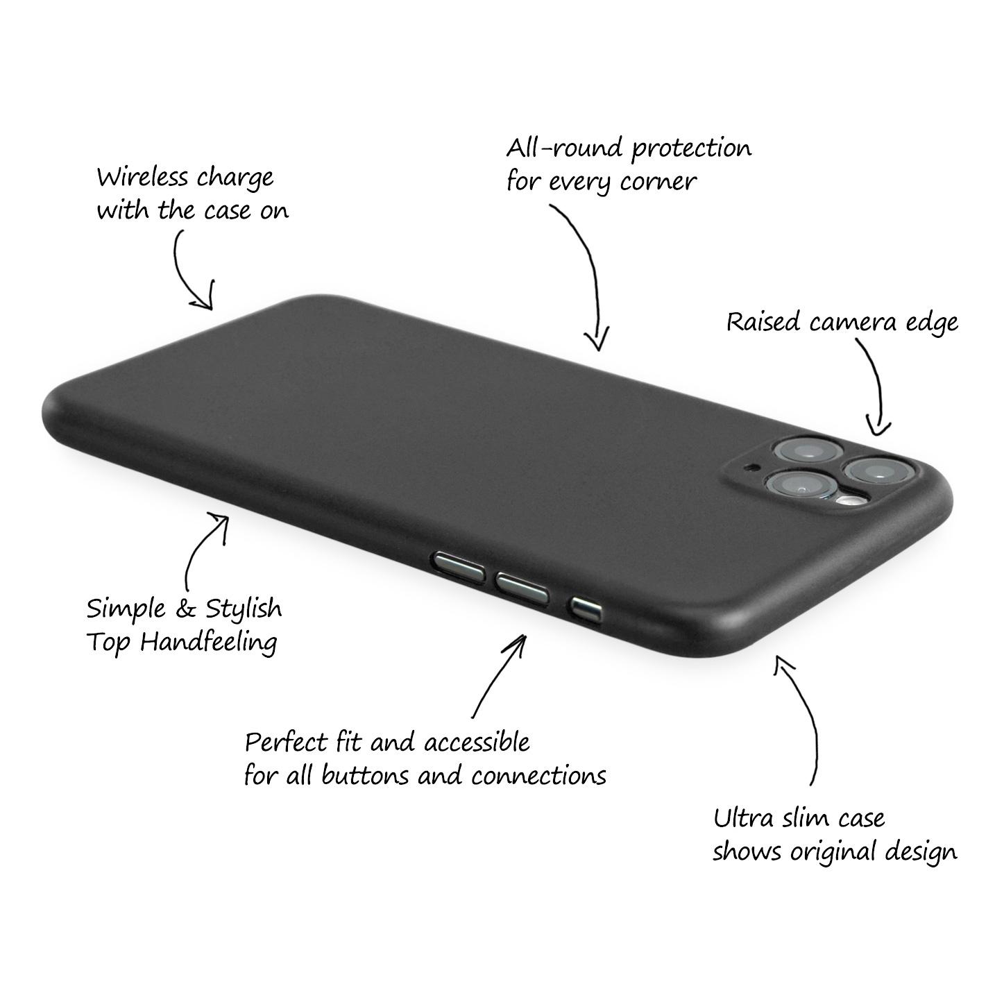 Ultra-Slim-Case-iPhone-11-Pro-5-8-034-Matt-Clear-Schutz-Huelle-Skin-Cover-Etui-Folie Indexbild 6
