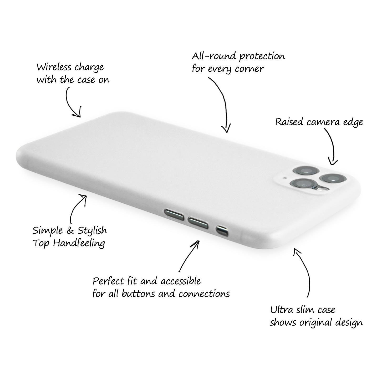 Ultra-Slim-Case-iPhone-11-Pro-5-8-034-Matt-Clear-Schutz-Huelle-Skin-Cover-Etui-Folie Indexbild 14
