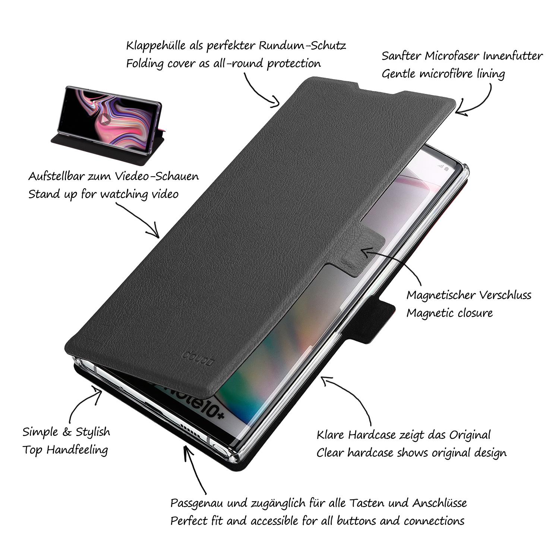 Flip-Case-Samsung-Note-10-Plus-Magnet-Cover-Aufstellbar-Staender-Schutzhuelle-Etui Indexbild 4
