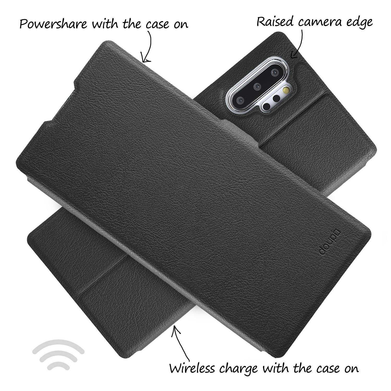 Flip-Case-Samsung-Note-10-Plus-Magnet-Cover-Aufstellbar-Staender-Schutzhuelle-Etui Indexbild 6