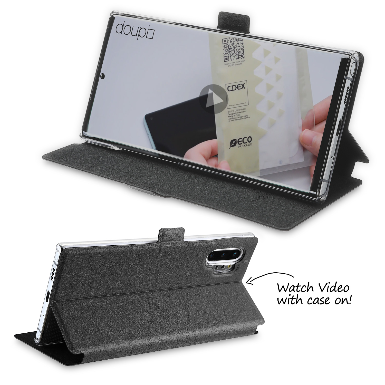 Flip-Case-Samsung-Note-10-Plus-Magnet-Cover-Aufstellbar-Staender-Schutzhuelle-Etui Indexbild 5
