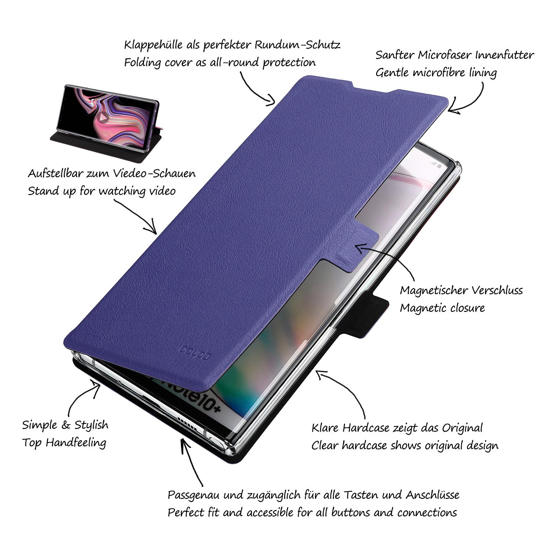 Flip-Case-Samsung-Note-10-Plus-Magnet-Cover-Aufstellbar-Staender-Schutzhuelle-Etui Indexbild 19