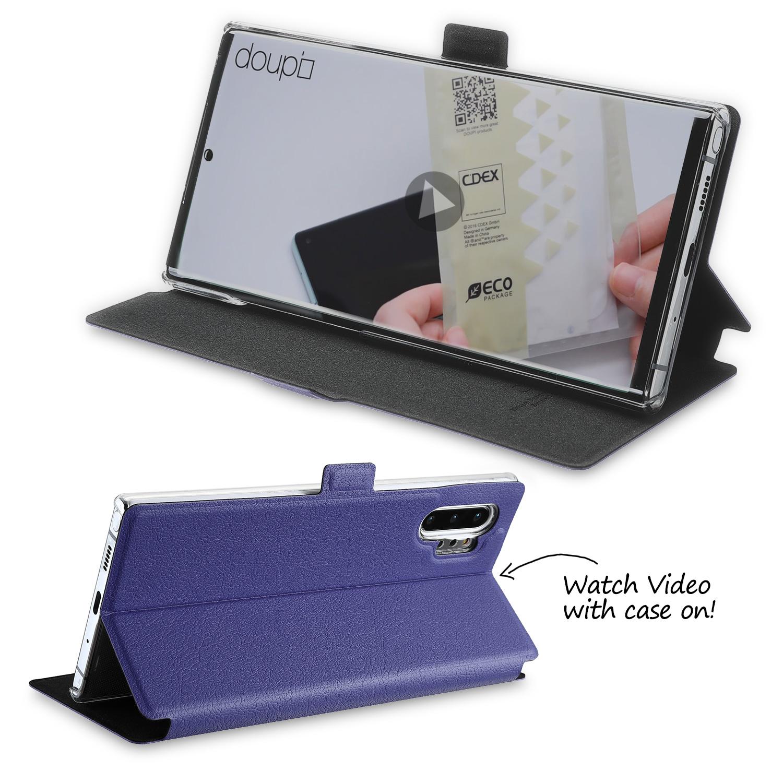Flip-Case-Samsung-Note-10-Plus-Magnet-Cover-Aufstellbar-Staender-Schutzhuelle-Etui Indexbild 20