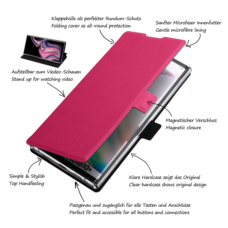 Flip-Case-Samsung-Note-10-Plus-Magnet-Cover-Aufstellbar-Staender-Schutzhuelle-Etui Indexbild 14
