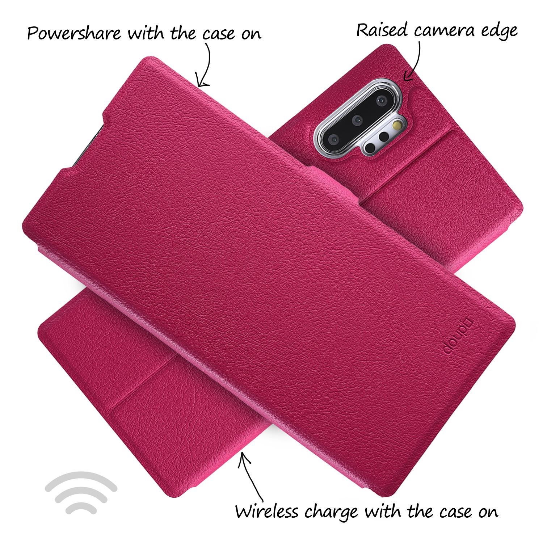 Flip-Case-Samsung-Note-10-Plus-Magnet-Cover-Aufstellbar-Staender-Schutzhuelle-Etui Indexbild 16
