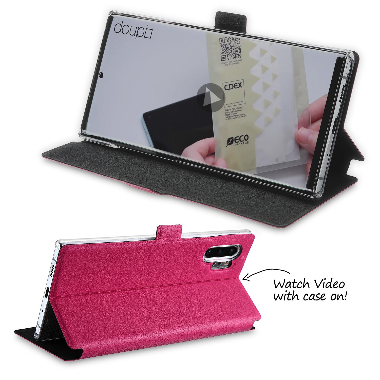 Flip-Case-Samsung-Note-10-Plus-Magnet-Cover-Aufstellbar-Staender-Schutzhuelle-Etui Indexbild 15