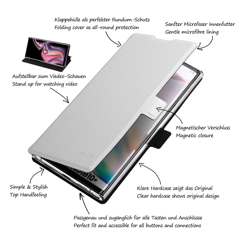 Flip-Case-Samsung-Note-10-Plus-Magnet-Cover-Aufstellbar-Staender-Schutzhuelle-Etui Indexbild 9