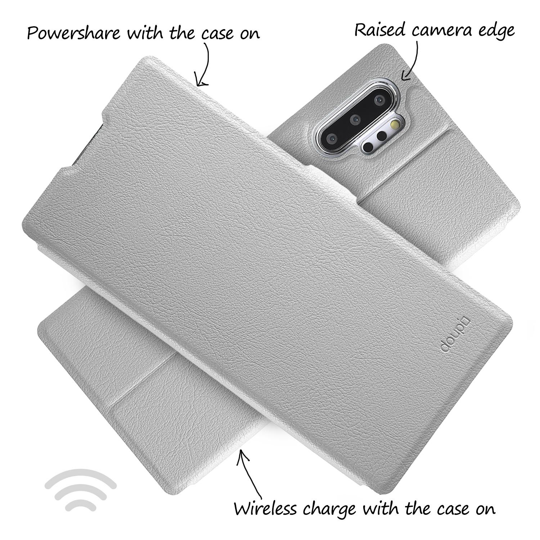 Flip-Case-Samsung-Note-10-Plus-Magnet-Cover-Aufstellbar-Staender-Schutzhuelle-Etui Indexbild 11